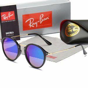 New Rayban 2447 Round Fleck Havana Sunglasses 48mm